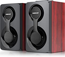 Computer Speakers, Support Wired and Bluetooth 5.0, Wooden Speakers with 2.0 Stereo Volume...