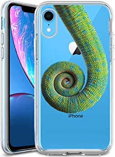 Customized Protective Cover with Slim Soft Durable TPU Ultra-Clear Silicone UV Printing Chameleon Tail Phone Case for iPhone XR