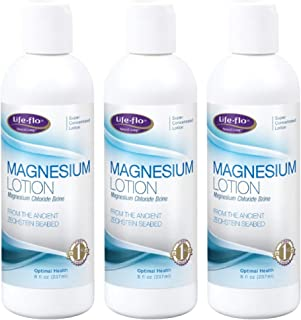 Life-Flo Magnesium Lotion | Magnesium Chloride Supplement Sourced from Zechstein Seabed | for Muscle Massage and Relaxation | 8 fl oz | 3 pk