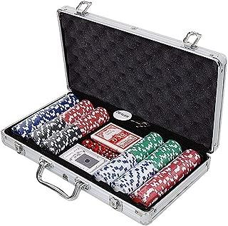 【LR.store】 カジノセット カジノゲーム アルミケース入り 本格派 ポーカーセット トランプセット ポーカー / チップ300枚入