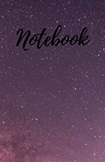 Notebook: 5.5'x8.5' 120 pages stars purple night