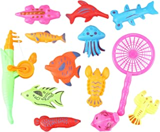 JVSISM Bath Toy Fishing Fish Model Magnetic Bathtub Set  Baby - 15pcs