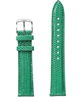 Michele - 18mm Garden Lizard Strap Green