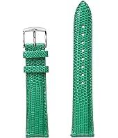 Michele - 18mm Garden Lizard Strap Green
