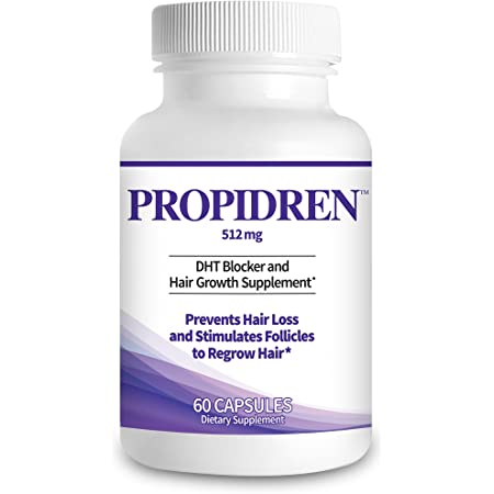 Propidren by HairGenics - DHT Blocker with Saw Palmetto To Prevent Hair Loss and Stimulate Hair Follicles to Stop Hair Loss and Regrow Hair.