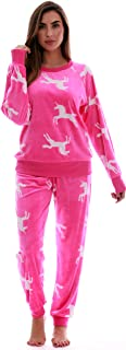 Women's Jogger Pajama Pants Set Ultra-Soft Velour PJs