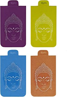 Heartzy Set of 4 Buddha Magnetic Bookmark Combo | Gift for Booklovers