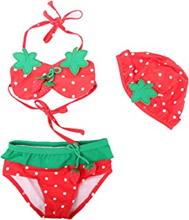 7707e5f58b08c LiUiMiY Ensemble Deux Pièces Maillot de Bain Filles, Bikini Swimwear Eté  Enfant Bébé Plage 1
