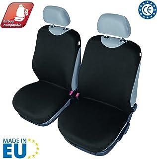 START Coprisedile Singolo Anteriore T-Shirt Nero Compatibili Airbag Auto Universale