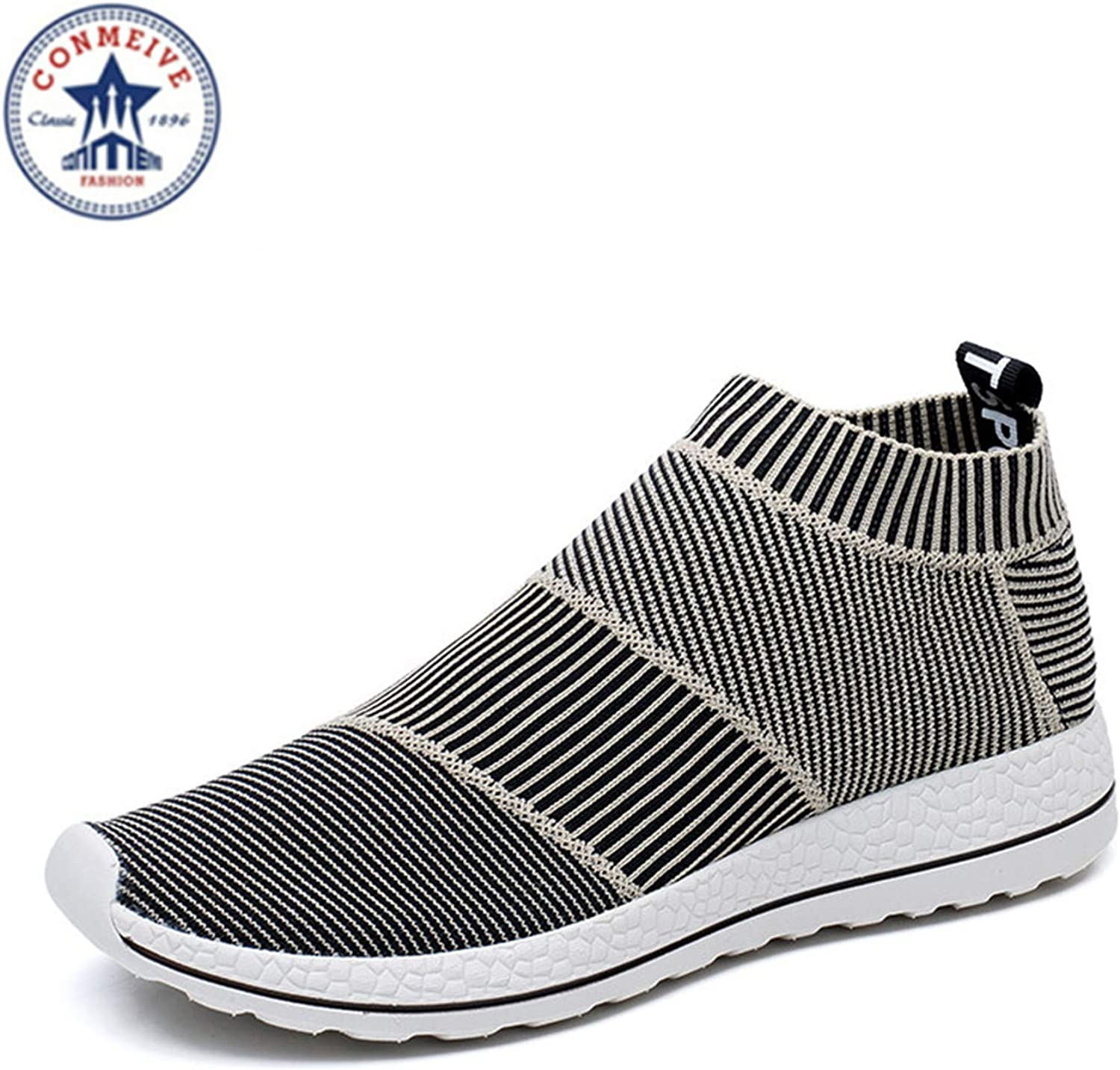 Light Running shoes for Men Women Sneakers Sport Sneaker Light Runing Breathable Slip-On Mesh (A