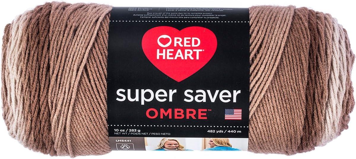 Coats & Clark Super Saver Ombre Yarn, 10 oz, Cocoa