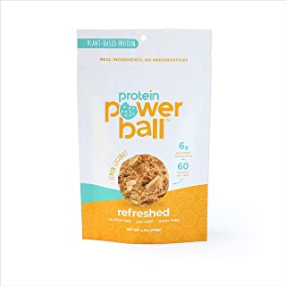 Protein Power Ball | On-the-Go Snacks | Gluten Free, Dairy Free, Soy Free Snack | High Protein Energy Bites (Lemon Coconut, 1 Pack)