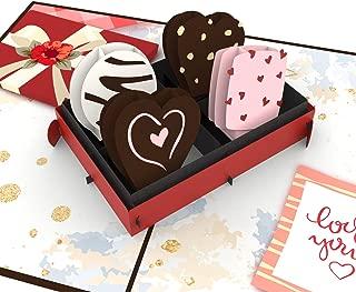 Unipop Cards Love Chocolate Pop Up Card, Anniversary Card, pop up greeting card, Love card, cards valentines day, 3D Card, Love Card, Valentine's day card, Romance Card, Cute Card, wedding card