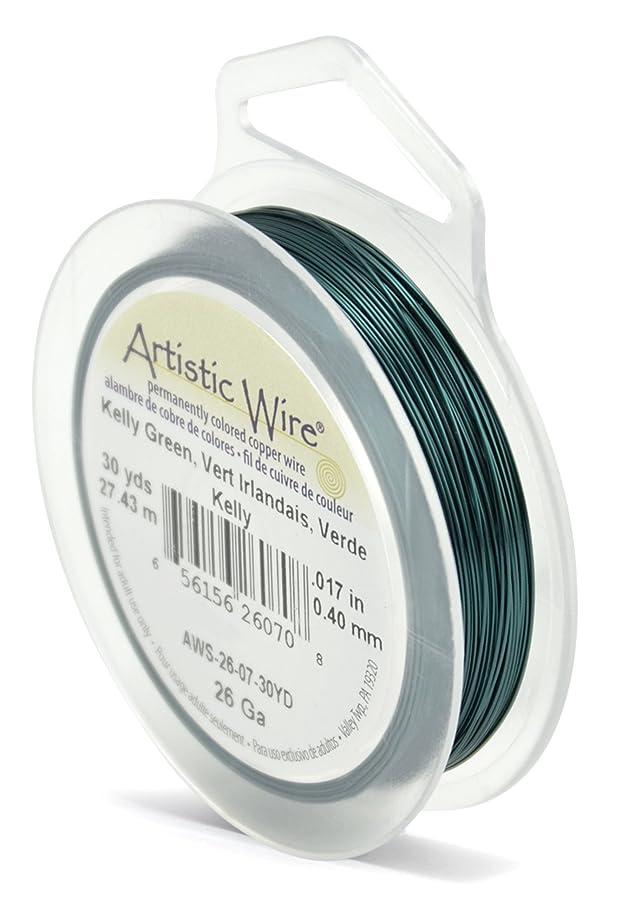 Beadalon Artistic Wire 26-Gauge Kelly Green Wire, 30-Yards
