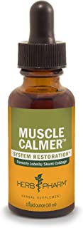 Herb Pharm Muscle Calmer Liquid Herbal Formula for Musculoskeletal System Support - 1 Ounce