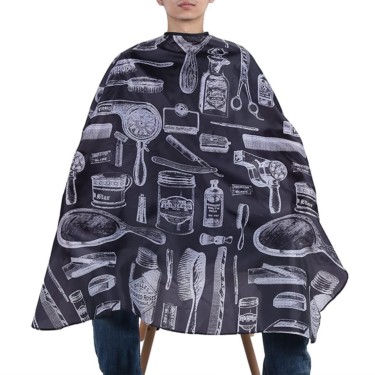 データエクステント侵入するヘアカットドレス 全身をすっぽりカバー! 散髪マント 髪が服に落ちる