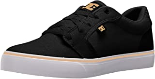 DC Men's Anvil TX Skate Shoe Black/Tan 10 D M US