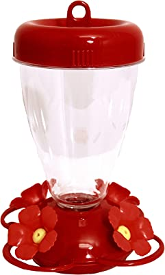 Perky-Pet 137TF-2 Red 16 oz Hibiscus Top Fill Plastic Hummingbird Feeder