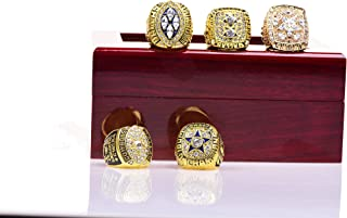 HASTTHOU Dallas Cowboys Supper Bowl Championship Rings Display Box Full Set