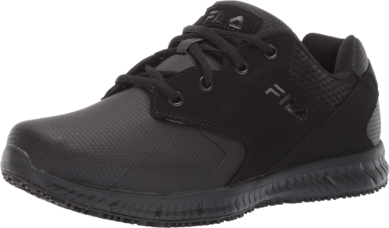 Fila Men's Memory Challenge the lowest price of Japan Sales ☆ Layers Slip Shoe Resistant Work Food Service