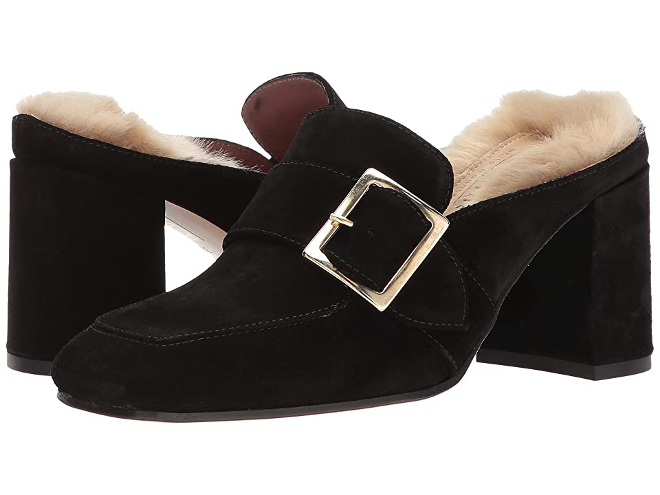 Summit by White Mountain Macey (Black Suede/Fur) Women
