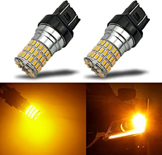 iBrightstar Newest 9-30V Extremely Bright 7440 7441 7443 7444 LED Bulbs replacement for Turn Signal Lights,Amber Yellow