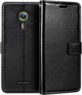 Alcatel One Touch Flash 2 plånboksfodral, premium PU-läder magnetiskt flippfodral med korthållare och ställ för Alcatel On...