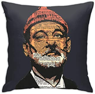 Monerla Ningpu Summer The-Life-Aquatic-with-Steve-Zissou-Bill-Murray- Throw Pillow Cover Soft Cotton Decorative Pillow Cover Sofa Cushion Cover Home Decoration