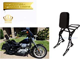 Motorcycle Sissy Bar Backrest + Luggage Rack Pad For Harley-Davidson Sportster XL 883 1200 Nightster Forty Eight
