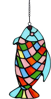 Alivagar Stained Glass Window Hangings Suncatchers Rainbow Fish, 7