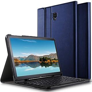 Luibor Samsung Galaxy Tab S4 10.5 Funda de Teclado Funda de Soporte Frontal con Teclado Desmontable para Samsung Galaxy Tab S4 10.5 SM-T830 (Wi-Fi) & SM-T835 (4G LTE) Tableta (Azul)