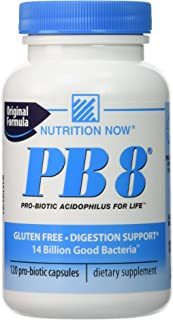 Nutrition Now Pb 8 Pro-biotic Acidophilus for Life - 120 Capsules (Pack of 3)