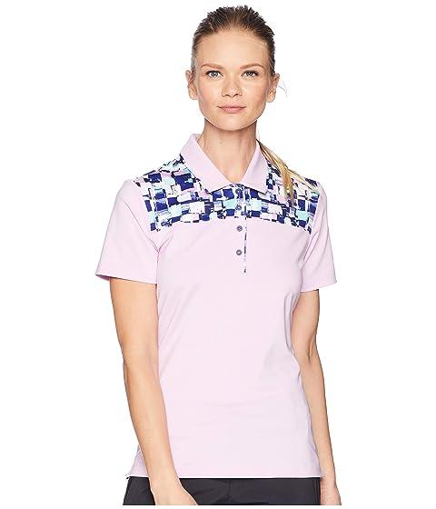 ADIDAS GOLF Ultimate Merch Short Sleeve Polo, Clear Lilac