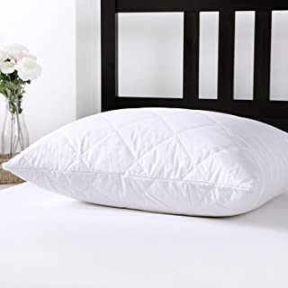 Dreamaker 100% Cotton Cover Australian Wool Filling Pillow Protector Cover Pillowcase Sham (2, 20'' X 36'')