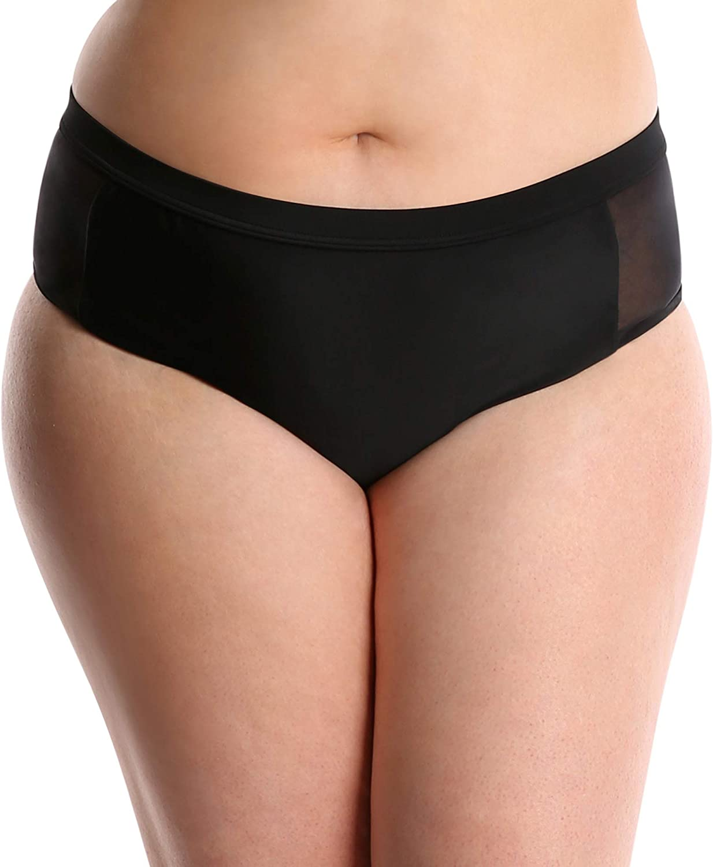 Lysa Swimwear Plus Size 2 Pc Tankini Bikini Mesh Swimsuit UPF 50