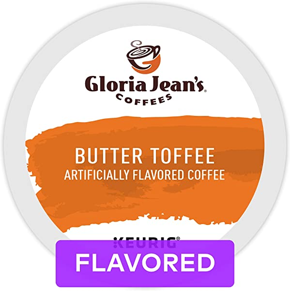Gloria Jean S Coffee Butter Toffee Single Serve K Cup Pod Flavored Coffee 96 Count