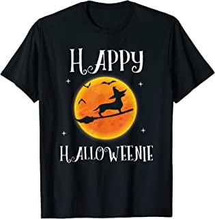 Dachshund Halloween Funny Happy Halloweenie Dog Lover T-Shirt
