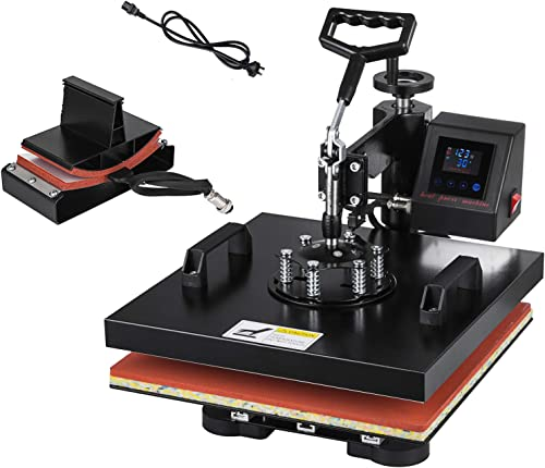 """2021 SHZOND outlet sale 2 in 1 Heat Press Machine 15""""x 15"""" LCD Display Heat Transfer Machine 2021 for T Shirts and Hats (15x15 inch 2 in 1) online"""