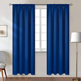BGment Rod Pocket Blackout Curtains for Bedroom - Thermal Insulated Room Darkening Curtain for Living Room, 42 x 84 Inch, 2 Panels, Classic Blue