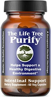 Purify - Certified Organic Advanced Intestinal Support and Microbial Cleanse for Humans and Pets - Contains no Wormwood - 60 Veg Capsule Formulation.
