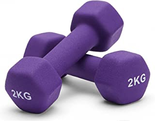 Albott Neoprene Dumbbell Weights Home Gym Weight Exercise for Women Ladies Kids Arm Hand Fitness Weights Dumbbells Set - 1...