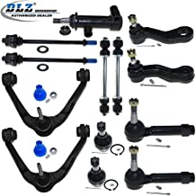 DLZ 13 Pcs Front Kit-Upper Control Arm Lower Ball Joint Tie Rod End Sway Bar Pitman Arm Idler Arm Idler Arm Assembly Compatible with Chevrolet Tahoe Silverado/GMC Sierra 1500 Yukon K8987 ES3493T