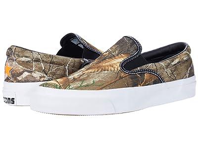 Converse Skate One Star CC Slip Core Slip (Black/Brown/White) Slip on Shoes