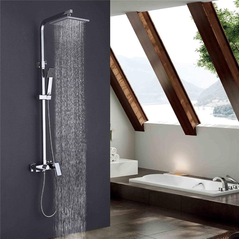 Bijjaladeva Antike Badezimmer Regen Mixer Dusche Regendusche Hahn System Tippen Kupfer Dusche Wasserhahn Dusche Dusche Kit Party-zu-Wand Heben Duschkpfe und Handdusche, Dusche Wasserhahn