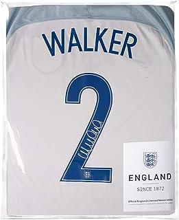 Icons.com Kyle Walker Official England Back Signed 2016-17 Home Shirt