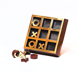 Capital International Wooden Hand-Crated TIK Tak Toe Board Game | Kids and Adults | Travel Game