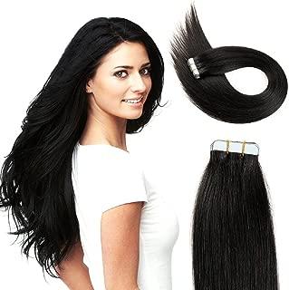 Kabello Human Hair Tape Hair Extension Black 40 Pcs 100 Grams 18 Inch Pack Of 1