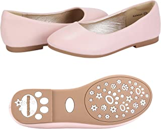 a6ffeff21a49 PANDANINJIA Toddler Little Kids Katelyn Slip on Wedding Party Uniform  School Ballet Flower Girls Flats