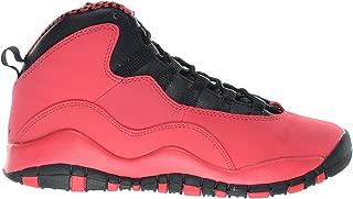 Jordan Girls Air 10 Retro (GS) Big Kids Basketball Shoes Fusion Red/Black 487211-605