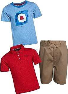 Ben Sherman Boys 3-Piece Polo, T-Shirt, and Short Set (Toddler/Little Boys)